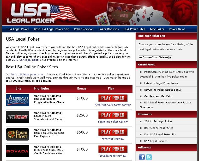 USA Legal Poker
